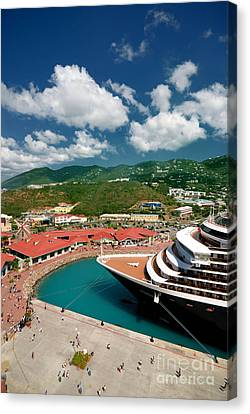 Ms Noordam St Thomas Virgin Islands Canvas Print by Amy Cicconi