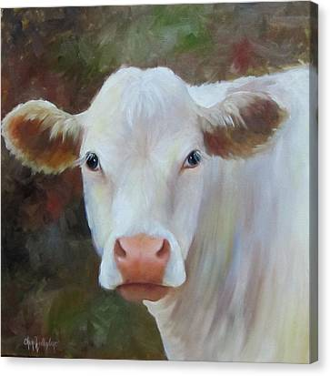 Canvas Print featuring the painting Ms Petunia by Cheri Wollenberg