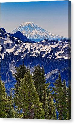 Canvas Print featuring the photograph Mt Adams by Ken Stanback
