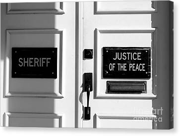 Justice Of The Peace Canvas Print by Michael Eingle