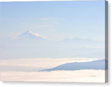 Mt. Baker From San Juan Islands Canvas Print