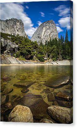 Canvas Print featuring the photograph Mt. Broderick And Liberty Cap by Mike Lee