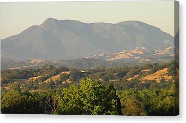 Canvas Print featuring the photograph Mt. Cali by Shawn Marlow