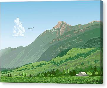 Mt Cheam In Summer Canvas Print by Artellus Artworks