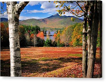 New England Autumn Canvas Print - Mt Chocorua - A New Hampshire Scenic by Thomas Schoeller