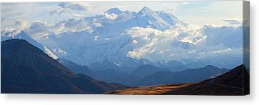 Canvas Print featuring the photograph Mt. Denali by Ann Lauwers