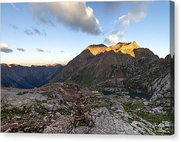 Mt. Eolus Canvas Print by Aaron Spong