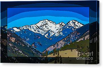 Mt Gardner In The Spring Abstract Painting  Canvas Print