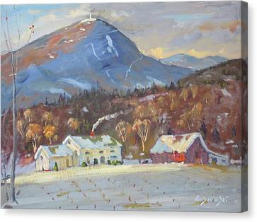 Mt Greylock From East Harbor Road Canvas Print by Len Stomski