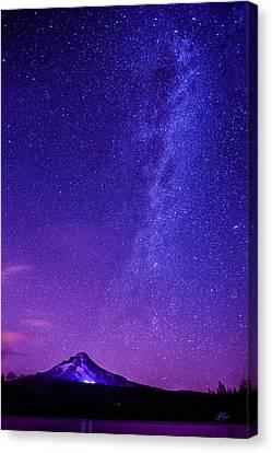 Mt. Hood Milky Way 01 Canvas Print by Lori Grimmett
