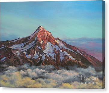 Mt Hood North Face Canvas Print by Jeanette French