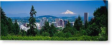Mt Hood Portland Oregon Usa Canvas Print by Panoramic Images