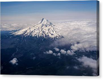 Mt. Hood Towers Above The Clouds  Hood Canvas Print by Robert L. Potts