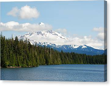 Canvas Print featuring the photograph Mt Hood View From Lost Lake by Robert  Moss