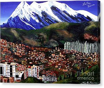 Mt Illimani La Paz Bolivia Canvas Print