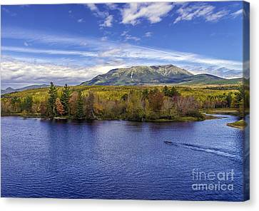 Mt Katahdin Hdr Canvas Print