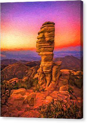 Mt. Lemmon Hoodoo Artistic Canvas Print by Chris Bordeleau