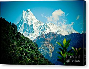 Mt Machapuchare Or Fish Tail Nepal Artmif Canvas Print
