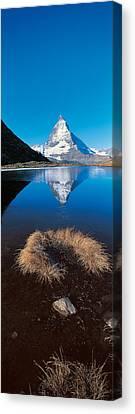 Mt Matterhorn & Riffel Lake Switzerland Canvas Print
