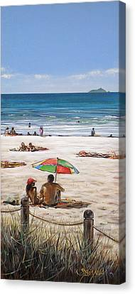 Mt Maunganui Beach 090209 Canvas Print by Sylvia Kula