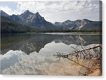 Mt. Mcgowan Reflected In Stanley Lake Canvas Print