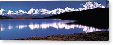Mt. Mckinley & Wonder Lake Denali Canvas Print by Panoramic Images