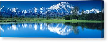 Mt Mckinley And Wonder Lake Denali Canvas Print by Panoramic Images
