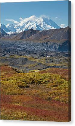 Mt Mckinley, Tallest Peak In North Canvas Print by Hugh Rose