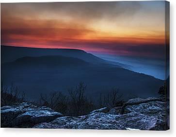 Mt Nebo Arkansas St Sunset Canvas Print by Tim Hayes