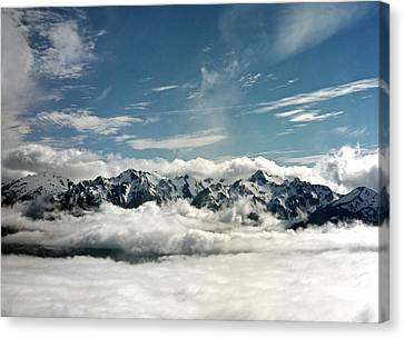 Canvas Print featuring the photograph Mt Olympus by Greg Reed