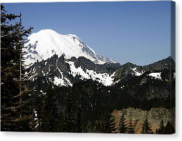 Mt Rainer From Wa-410 Canvas Print