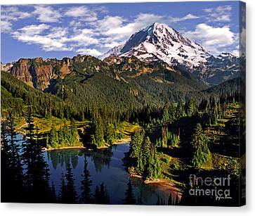 Mount Rainier And Eunice Lake From Tolmie Peak - Washington Canvas Print by Yefim Bam