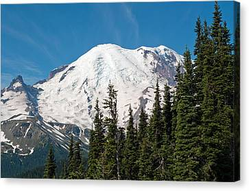 Mt. Rainier At Sunrise Viewpoint Canvas Print by Tikvah's Hope