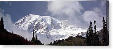 Canvas Print featuring the photograph Mt Rainier  by Greg Reed