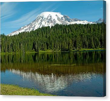 Canvas Print featuring the photograph Mt. Rainier II by Tikvah's Hope