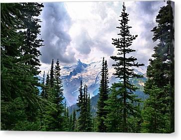 Canvas Print featuring the photograph Mt Rainier by Lynn Hopwood