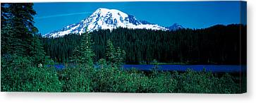 Mt Rainier Mt Rainier National Park Wa Canvas Print by Panoramic Images
