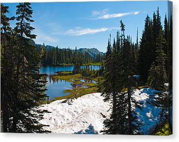Canvas Print featuring the photograph Mt. Rainier Wilderness by Tikvah's Hope