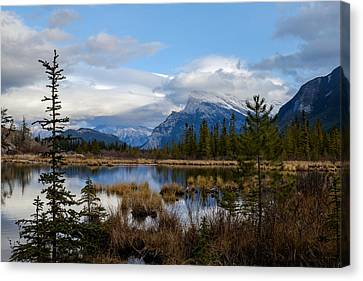 Mt Rundel Over The Lake Canvas Print