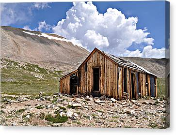 Old Cabins Canvas Print - Mt. Sherman by Aaron Spong