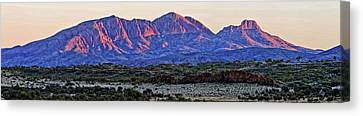 Mt Sonder Sunrise Canvas Print by Paul Svensen