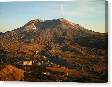 Mt St Helens From Johnsons Observatory Canvas Print by Jeff Swan