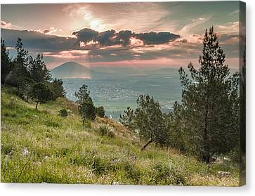 Mt. Tabor From Mt. Of Precipice Canvas Print by Sergey Simanovsky
