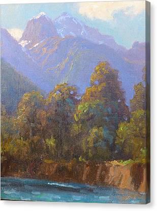 Mt. Tewhero Holyford V.landscape Canvas Print by Terry Perham