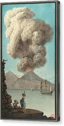 Mt. Vesuvius' Morning Eruption Canvas Print by British Library