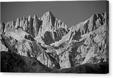 Mt. Whitney In Black And White Canvas Print by Eric Tressler