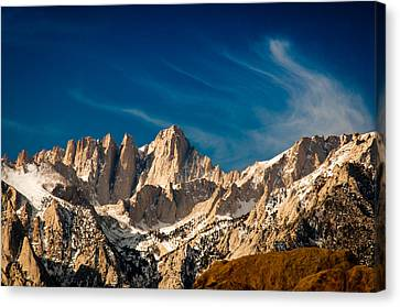 Mt Whitney On A Winter Day Canvas Print