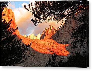 Canvas Print featuring the photograph Mt. Whitney Sunrise by Alan Socolik