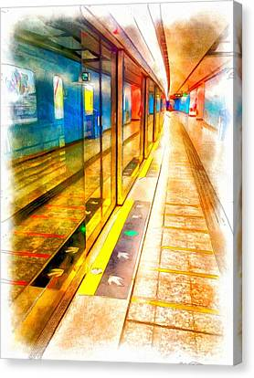 Mtr Admiralty Station In Hong Kong Canvas Print by Yury Malkov