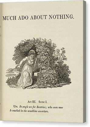 Edition Canvas Print - Much Ado About Nothing. Act IIi by British Library
